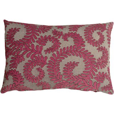 Boutin Ferns Rectangular Lumbar Pillow Color: Pink