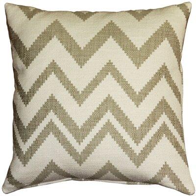 Moreau Zigzag Cotton Throw Pillow Color: Cream