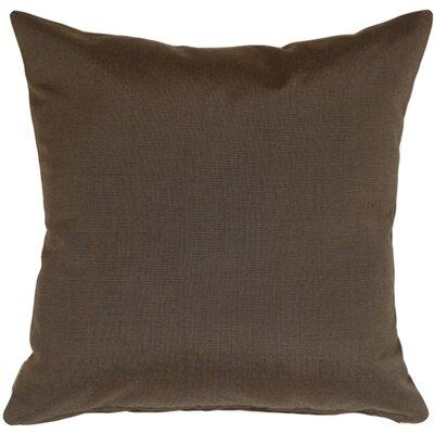 Otselic Outdoor Sunbrella Throw Pillow Color: Coal Black
