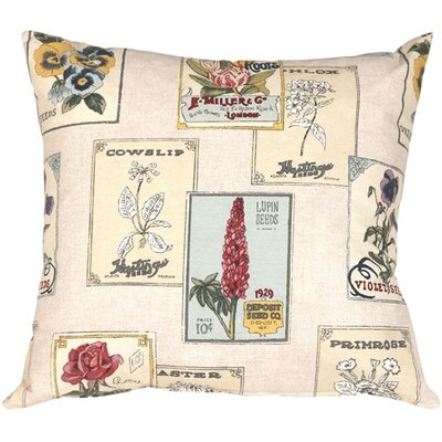 Vintage Seed Packet Throw Pillow