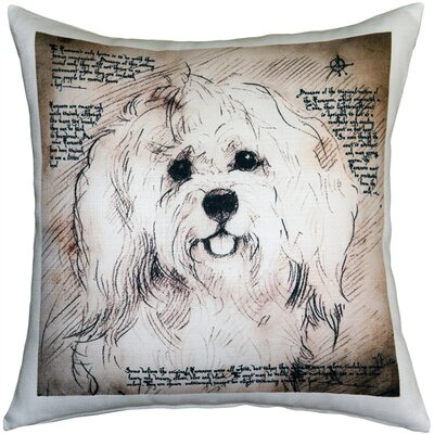 Naples Havanese Dog Indoor/Outdoor Throw Pillow