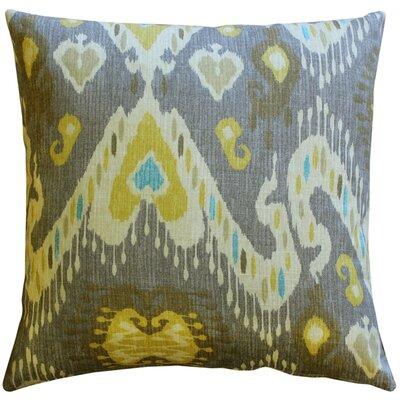 Solo Ikat Cotton Throw Pillow Color: Gray
