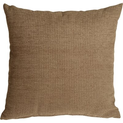 Sherwood Chenille Throw Pillow Size: 16 H x 16 W x 5 D, Color: Tan