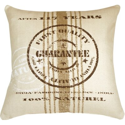 Kabir Quality Guarantee Throw Pillow Color: Brown