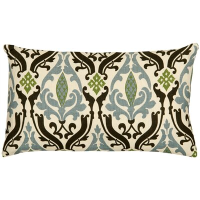 Arcadia Print Linen Lumbar Pillow Color: Blue/Brown