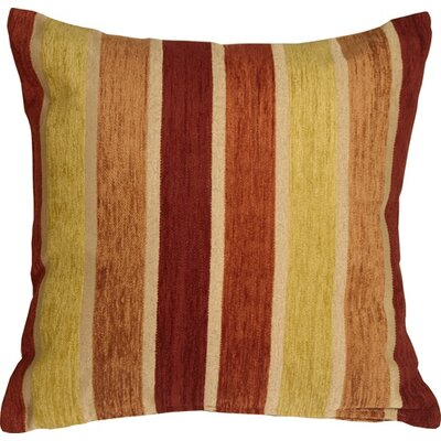 Belington Stripes Chenille Throw Pillow Color: Yellow/Orange