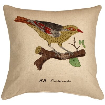 Cotulla Bird on Branch Throw Pillow