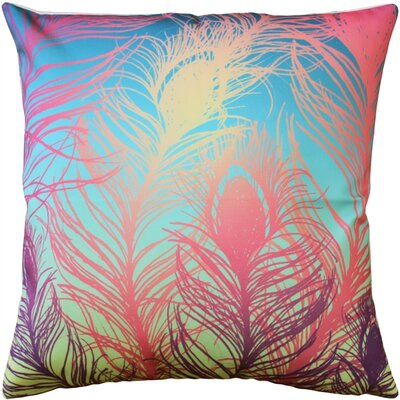 Harrell Peacock Feathers Pastel Throw Pillow