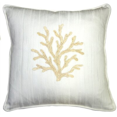 Lyla Sea Coral Cotton Throw Pillow