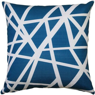 Vanbrunt Indoor/Outdoor Throw Pillow Color: Blue