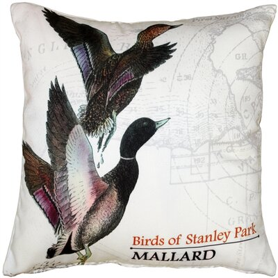 Francille Mallard Bird Throw Pillow