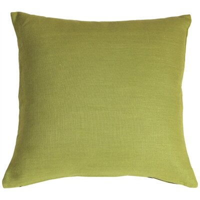 Newsome Linen Throw Pillow Size: 20 H x 20 W x 6 D, Color: Apple Green