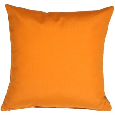 Londyn Outdoor Sunbrella Throw Pillow Color: Tangerine Orange