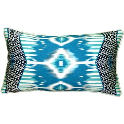 Mooers Electric Ikat Lumbar Pillow Color: Teal