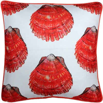Burnham Bay Scallop Large Scale Throw Pillow