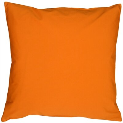 Caravan Cotton Throw Pillow Size: 20 H x 20 W x 6 D, Color: Orange