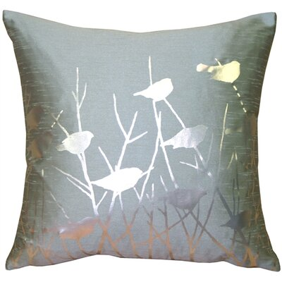 Etienne Birds Throw Pillow Color: Blue