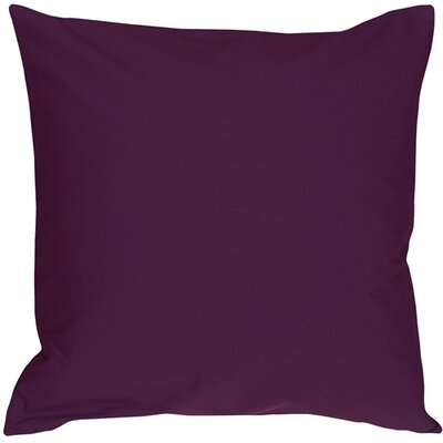Caravan Cotton Throw Pillow Size: 23 H x 23 D x 7 D, Color: Purple
