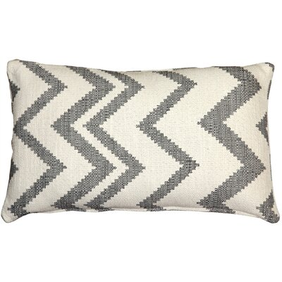 Moreau Zigzag Cotton Lumbar Pillow Color: Gray