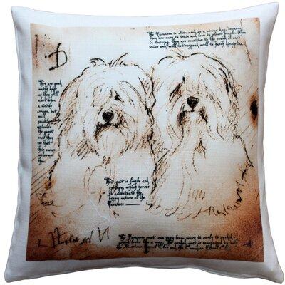 Naples Havanese Duo Dog Square Indoor/Outdoor Throw Pillow
