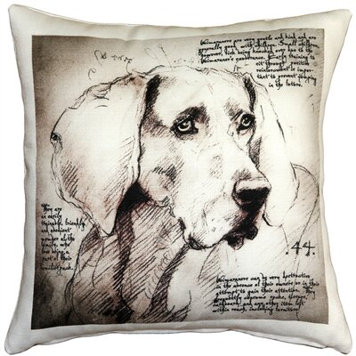 Caufield Weimaraner Dog Indoor/Outdoor Throw Pillow
