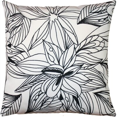 Potsdam Pen and Ink Flowers Throw Pillow