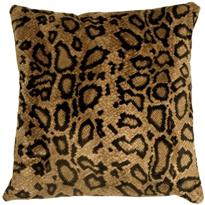 Snake Skin Velboa Throw Pillow