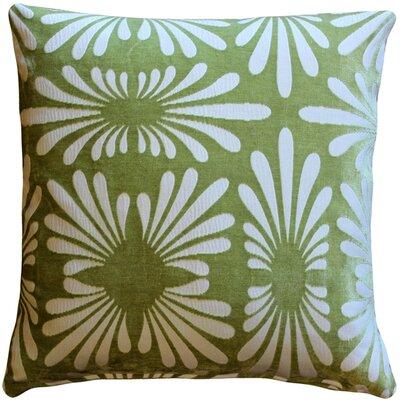 Daisy Throw Pillow Color: Green
