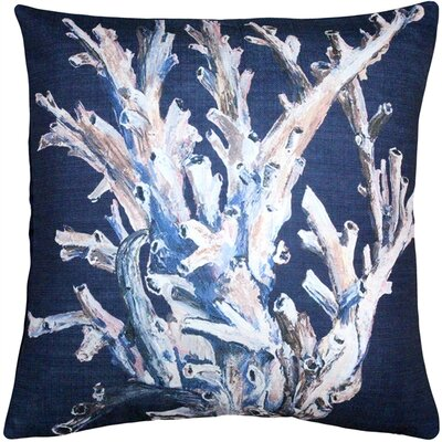 Lewis Ocean Reef Coral Throw Pillow Color: Navy