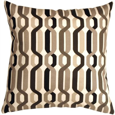 Jamaal New Twist Outdoor Throw Pillow Color: Caviar