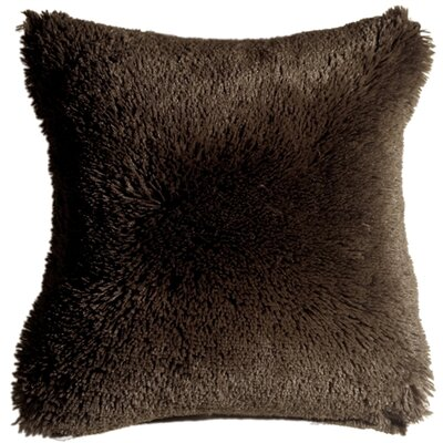 Anatole Soft Plush Throw Pillow Color: Brown