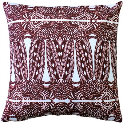 Preble Partridge Stamp Throw Pillow Color: Marsala