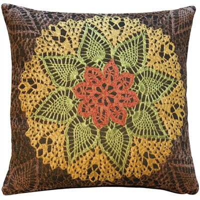 Crochet Flower Throw Pillow