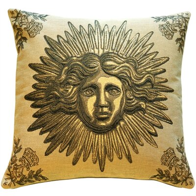 Sun King Throw Pillow Color: Beige