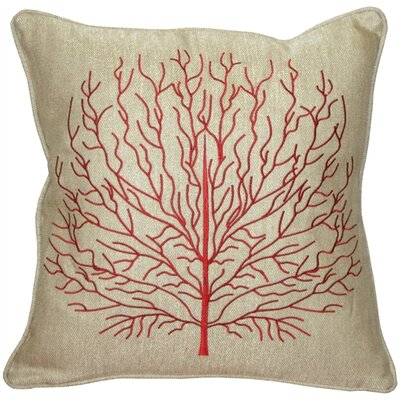 Isla Fire Coral Throw Pillow Color: Red