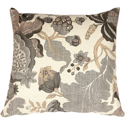 Harvest Floral Throw Pillow Color: Gray