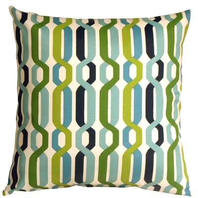 Jamaal New Twist Outdoor Throw Pillow Color: Aquarium