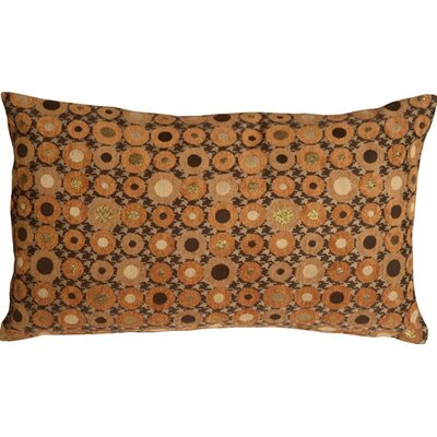 Houndstooth Spheres Lumbar Pillow Color: Orange