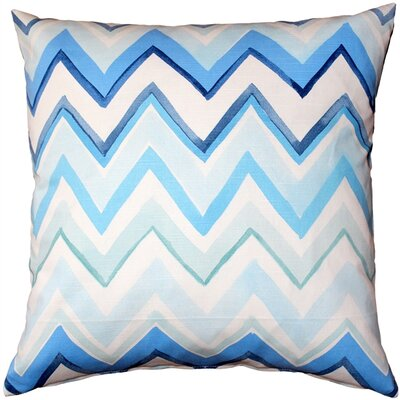 Vallone Cotton Throw Pillow Color: Blue