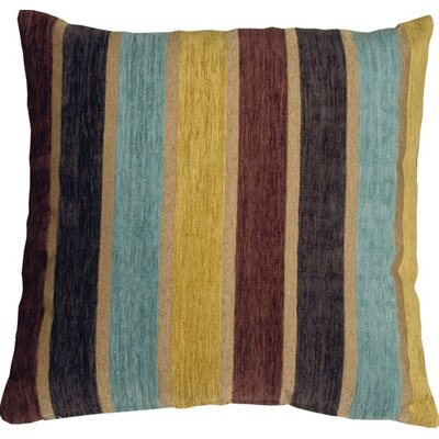 Belington Stripes Chenille Throw Pillow Color: Yellow/Blue