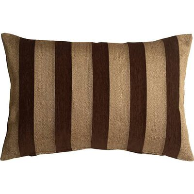 Boutin Stripes Rectangular Lumbar Pillow Color: Brown