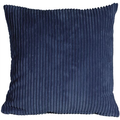 Luciana Throw Pillow Size: 22 H x 22 W x 7 D, Color: Dark Blue