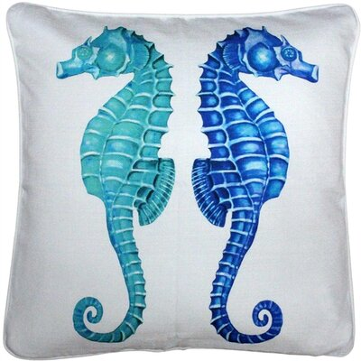 Baldwin Seahorse Reflect Throw Pillow Size: 26