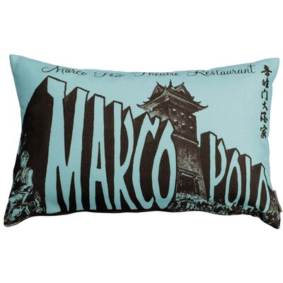 Frank Marco Polo Theatre Restaurant Lumbar Pillow Color: Blue