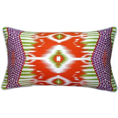 Electric Ikat Lumbar Pillow Color: Orange