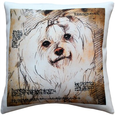 Chadstone Maltese Dog Indoor/Outdoor Throw Pillow