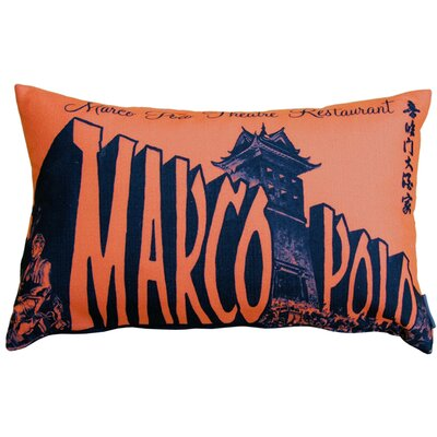 Marco Polo Theatre Restaurant Lumbar Pillow Color: Sienna
