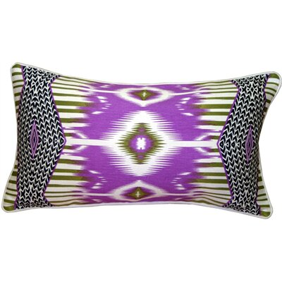 Mooers Electric Ikat Lumbar Pillow Color: Purple