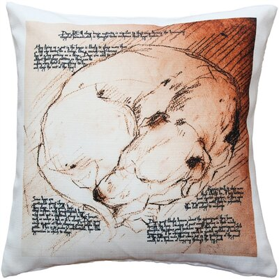 Dreaming Dog Indoor/Outdoor Throw Pillow