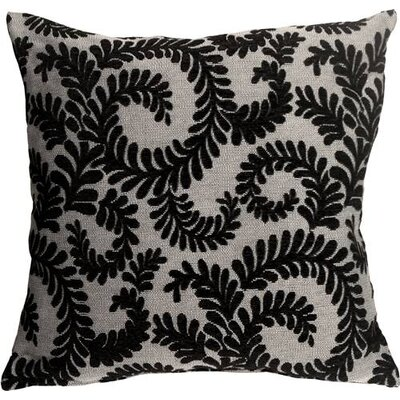 Boutin Ferns Throw Pillow Color: Black
